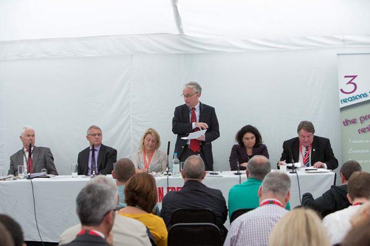 CTUF - IER labour Party Fringe meeting: John Hendy QC; Stephen Cavalier, Carolyn Jones  Professor Keith Ewing, Katy Clark MP, Tony Burke