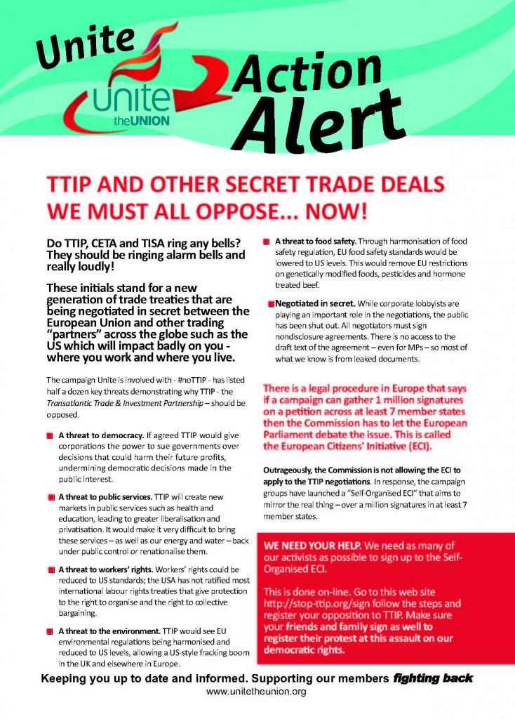 TTiP action alert