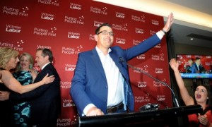 Victoria's new Labor Premier, Daniel Andrews fought election on jobs and unions.
