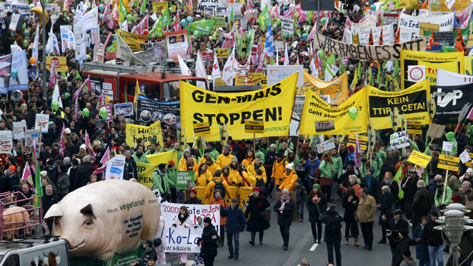 Demonstration against TTIP in Berlin earlier this year.