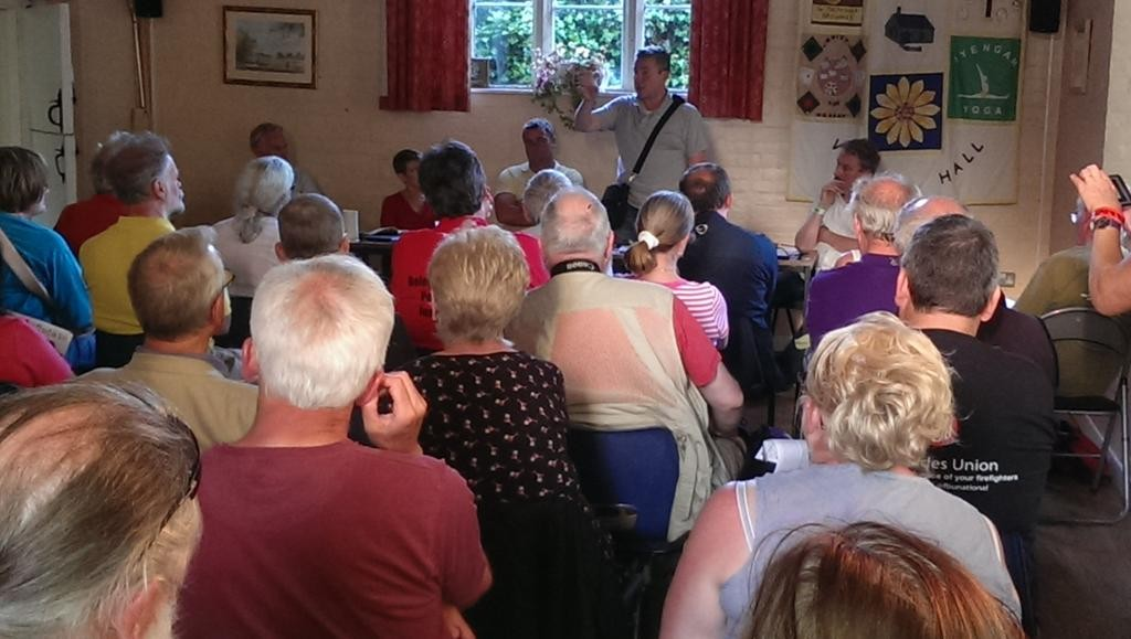 PCS General Secretary Mark Serwotka addressing packed meeting at Tolpuddle. Photo: Mike Hedges Photography.