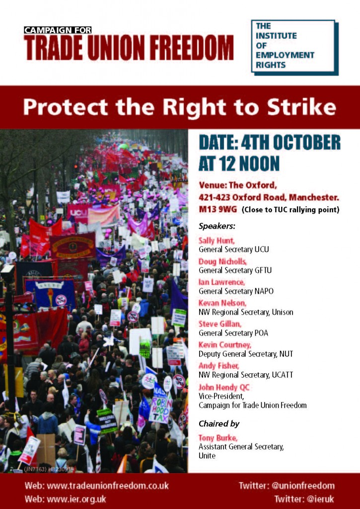 (JN7163) A5 CTUF Manchester Tory demo flyer